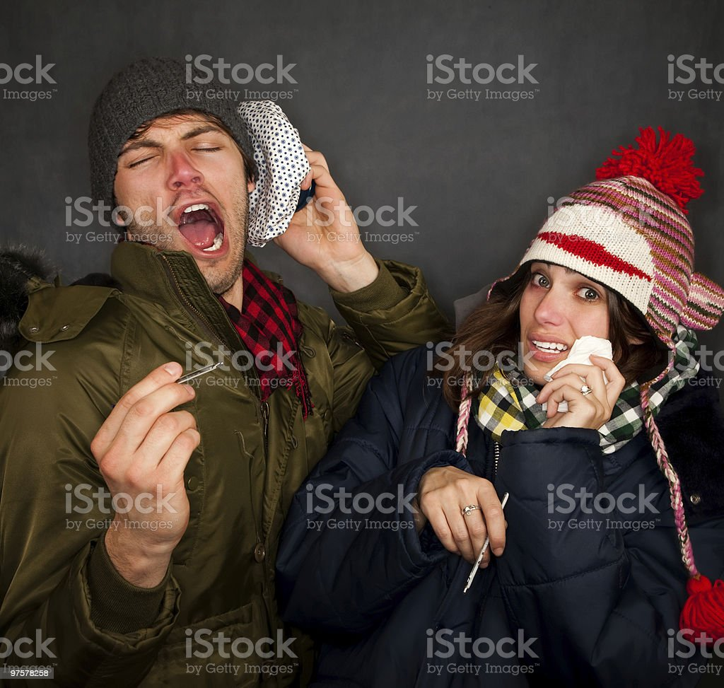 Sick Couple royalty-free stock photo