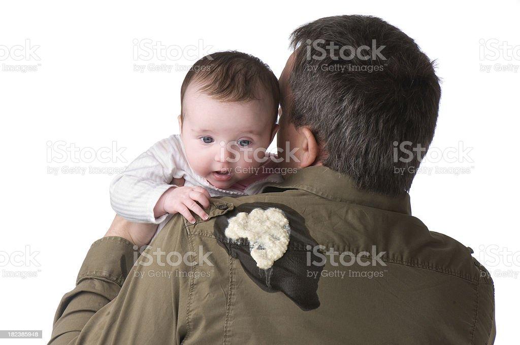sick dad stock photo