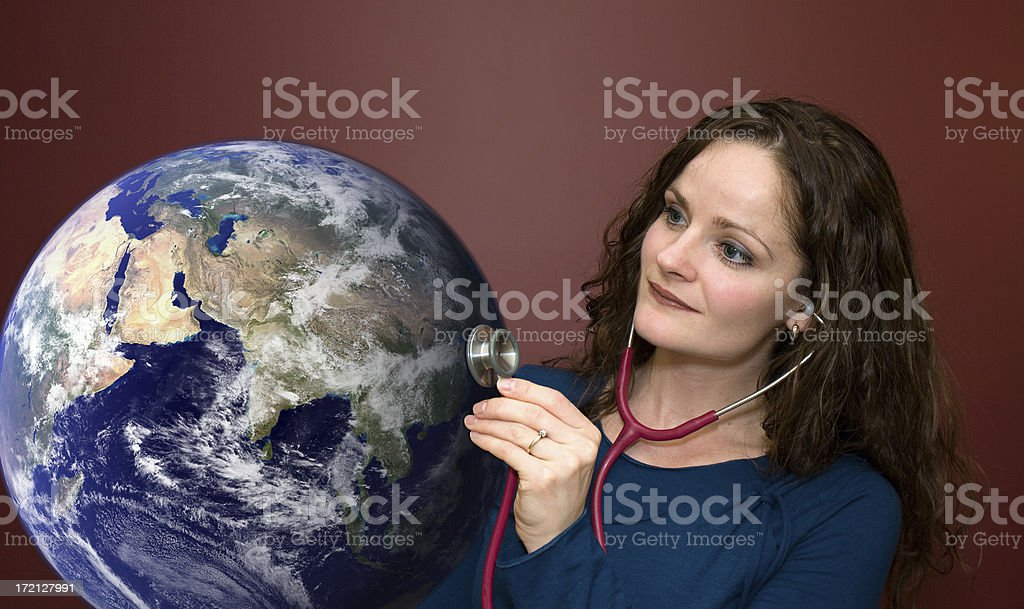 Sick Earth royalty-free stock photo