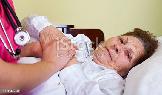 istock Sick elderly woman 841293708