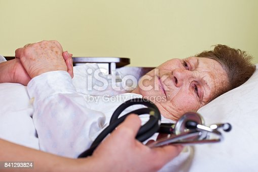 istock Sick elderly woman 841293824