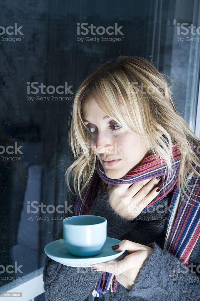 Sick in my appartment royalty-free stock photo
