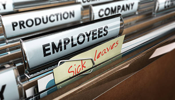 sick leave - leaving stock photos and pictures