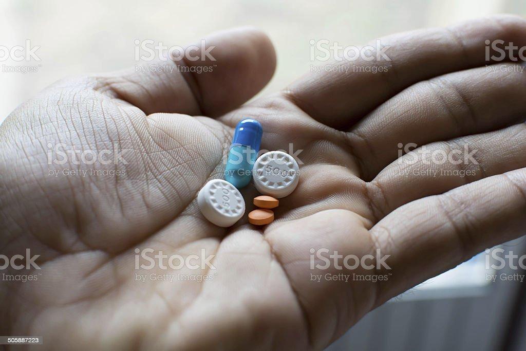 Sick pills stock photo