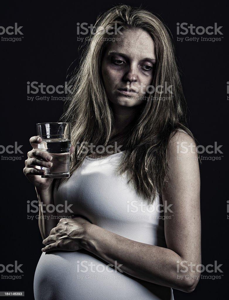 Sick Pregnant Woman stock photo