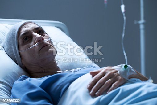 910488902istockphoto Sick senior woman with cancer 928969302