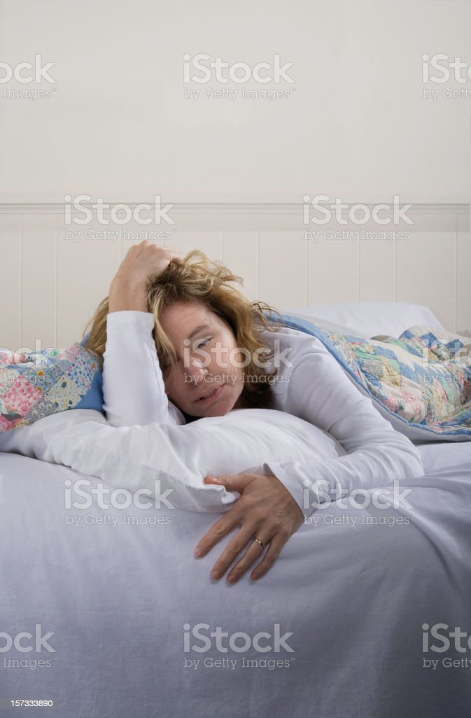 Sick, Tired or Hungover royalty-free stock photo