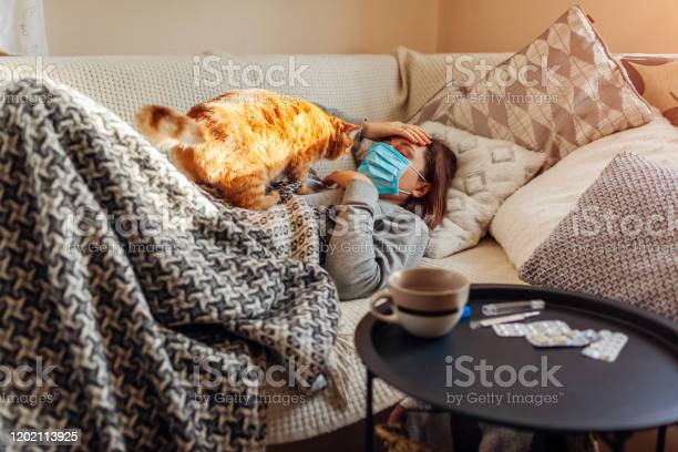 Sick woman having flu or cold girl lying in bed with cat wearing by picture id1202113925?b=1&k=6&m=1202113925&s=612x612&h=b3dn89ec6faymq obdi9c8b4x58pfgycji1j8gfx  u=