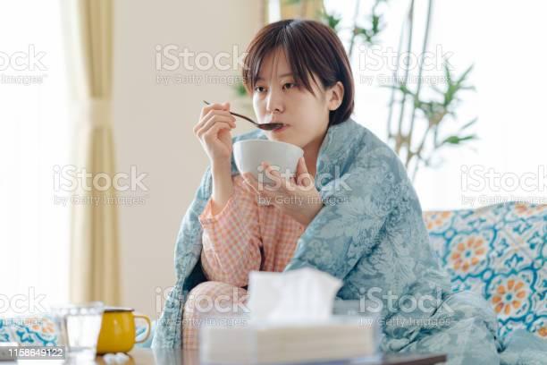 Sick woman having soup to recover picture id1158649122?b=1&k=6&m=1158649122&s=612x612&h=a5znlbbbu 1jdf5iifohk1mcjenlumn4y3memnfekns=