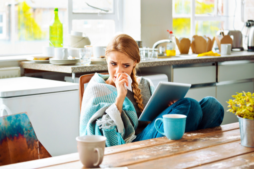 Sick Woman Stock Photo - Download Image Now