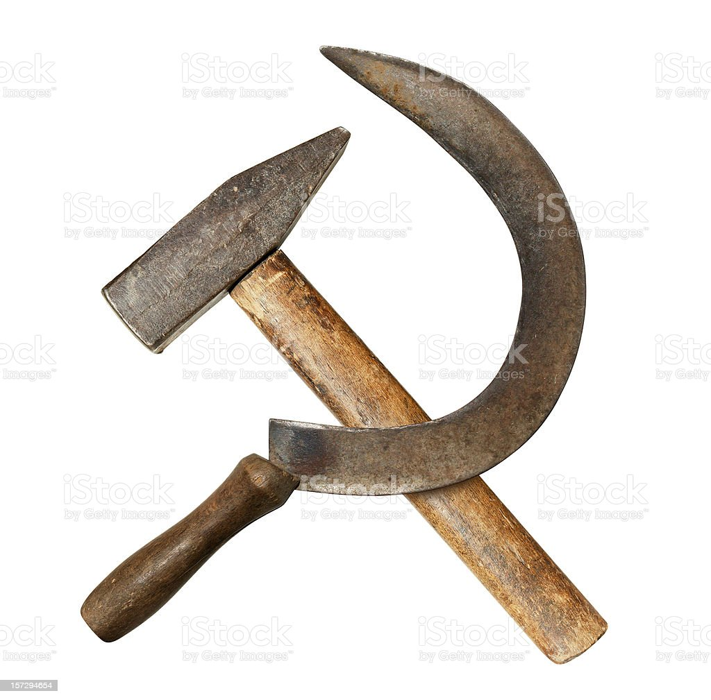 Sickle & Hammer stock photo