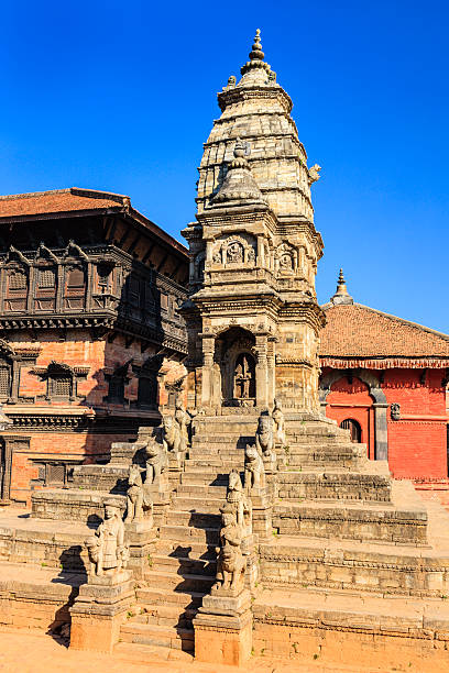 Siddhi Lakshmi Temple on Durbar Square in Bhaktapur stock photo