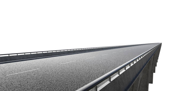 Side angle view of straight flyover stock photo