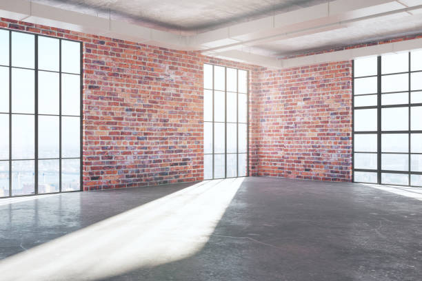 Side brick room front stock photo