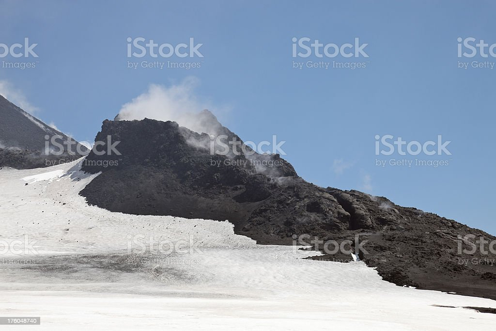 Side caldera, Mount Etna, Sicily stock photo