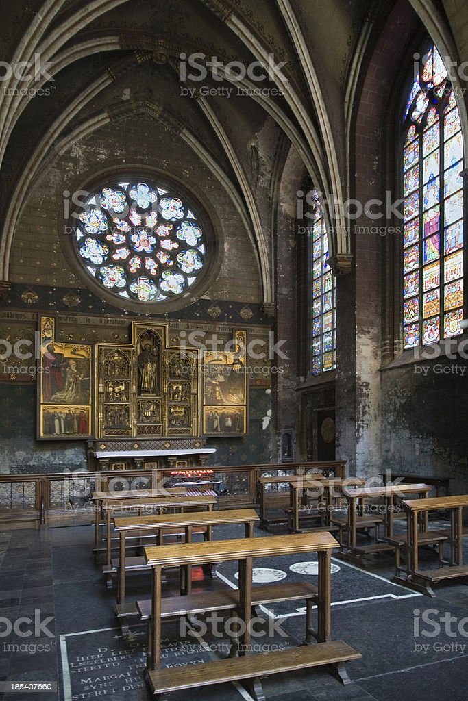 Side chapel of the Our Lady's Cathedral royalty-free stock photo