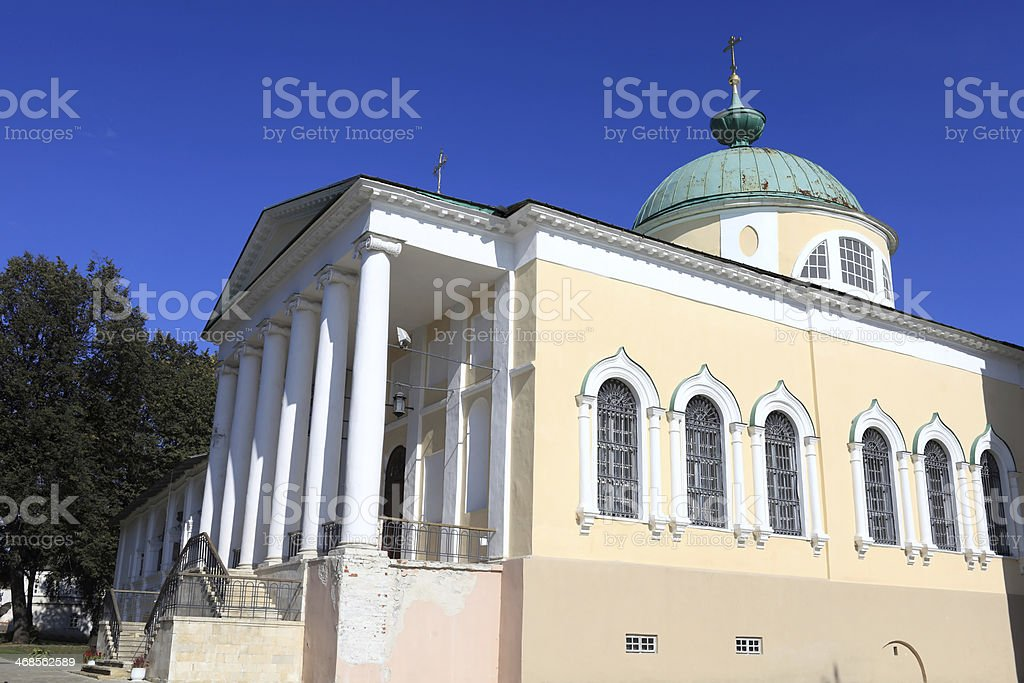 Side church of Yaroslavl miracle workers stock photo
