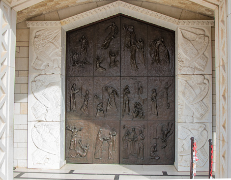 istock Side door to the Basilica of the Annunciation in the old city of Nazareth in Israel 904183398