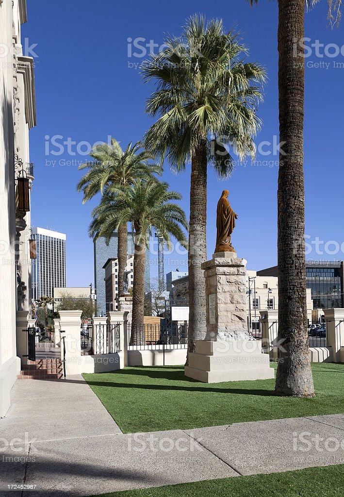 Side entrance of Roman Catholic Diocese, Tucson royalty-free stock photo