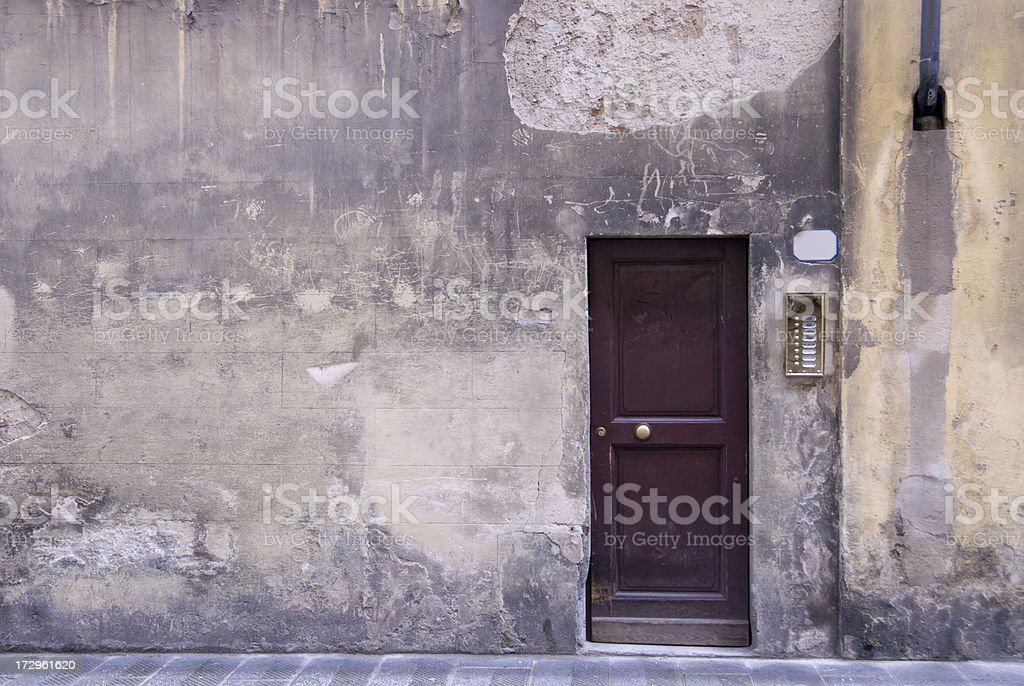 Side Entrance to an Old Italian Mansion royalty-free stock photo