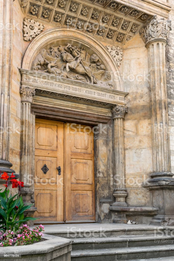 Side entrance to Basilica of st. George royalty-free stock photo