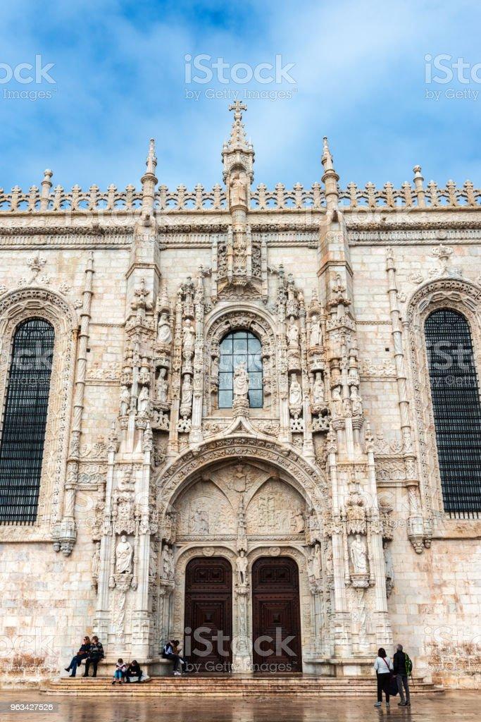 Entrée latérale pour le monastère des Hiéronymites à Lisbonne - Photo de Abbaye libre de droits
