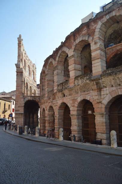 Seite Fassade des römischen Zirkus-Arena von Verona. – Foto