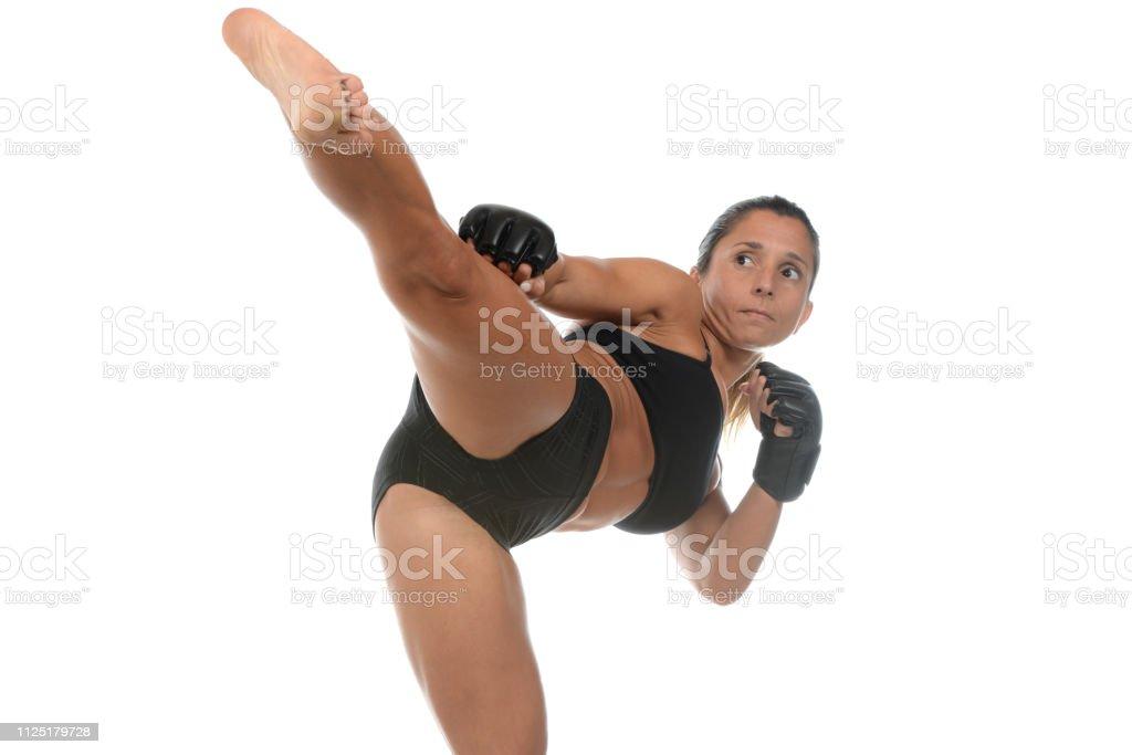 MMA Side Kick stock photo