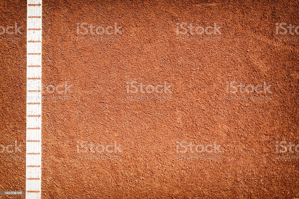 side line an clay tennis court stock photo