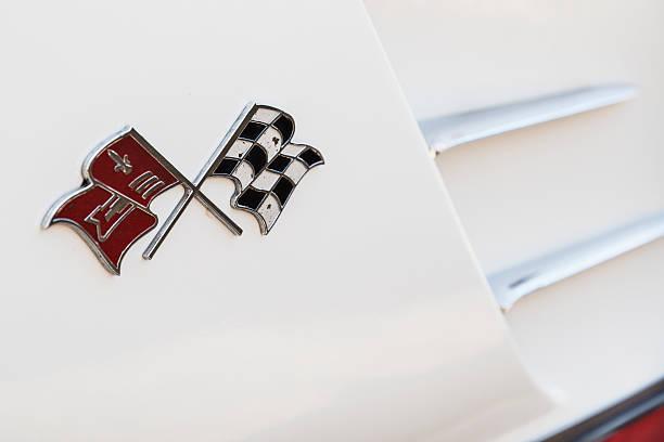 Side Logo of a 1960 Chevrolet Corvette stock photo