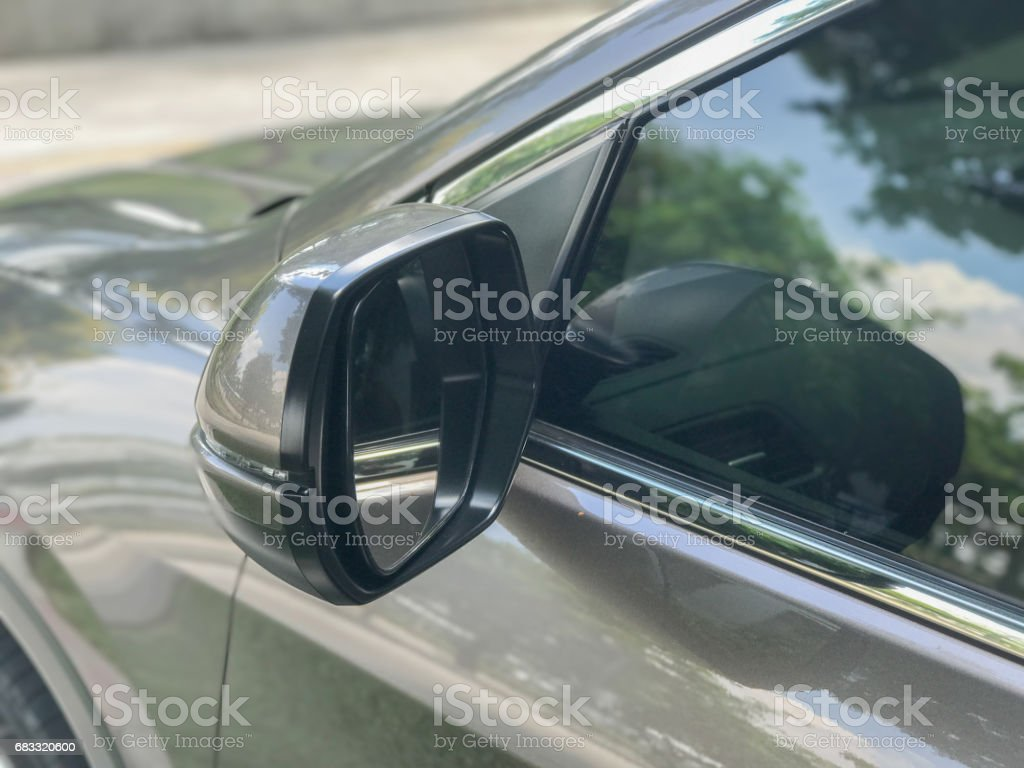 side mirror of the car royalty-free stock photo