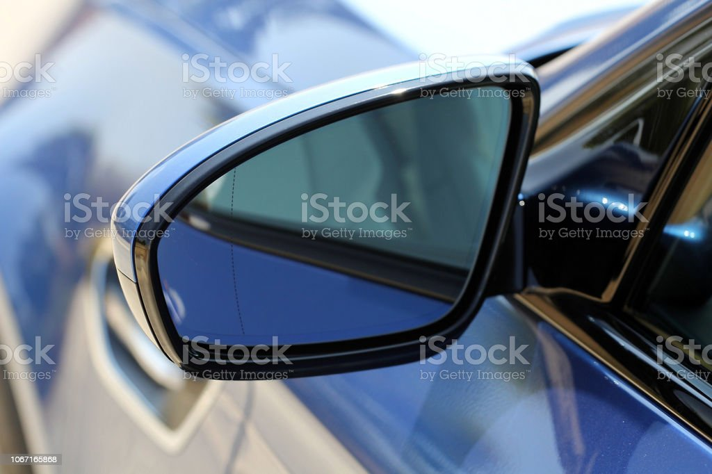 Side mirror with turn signal of a luxury car