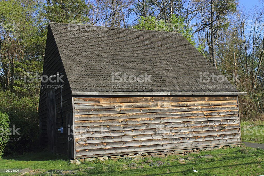 Side of a Barn royalty-free stock photo