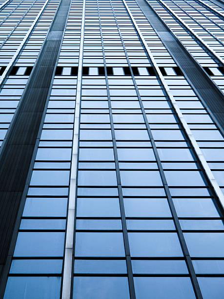 Side of a modern skyscraper stok fotoğrafı