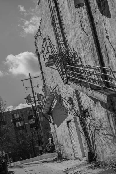 Side of an old building stock photo