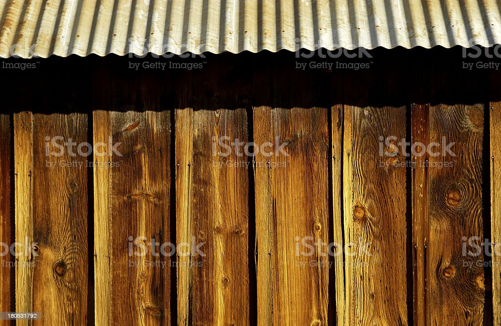 Side of barn stock photo