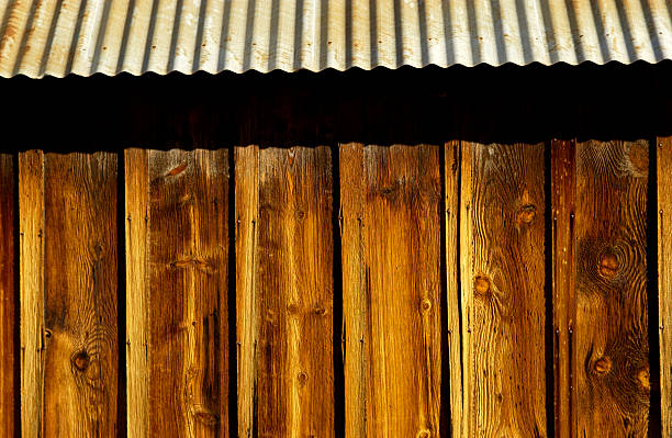 Side of barn stock photo