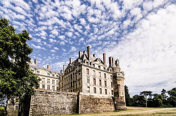 Side of Brissac Castle in Loire, France