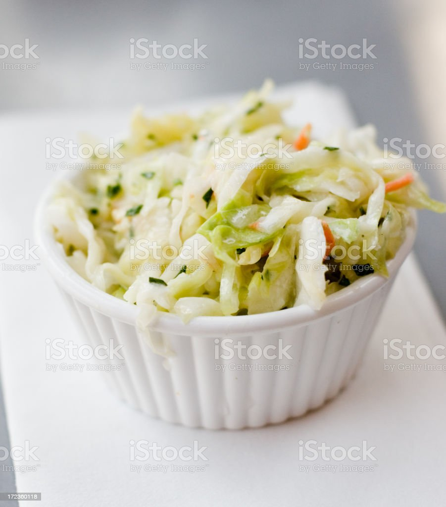 Side of Cole Slaw stock photo