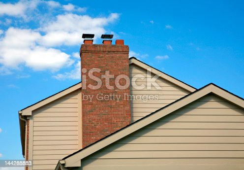 Side of House Against a Blue Sky