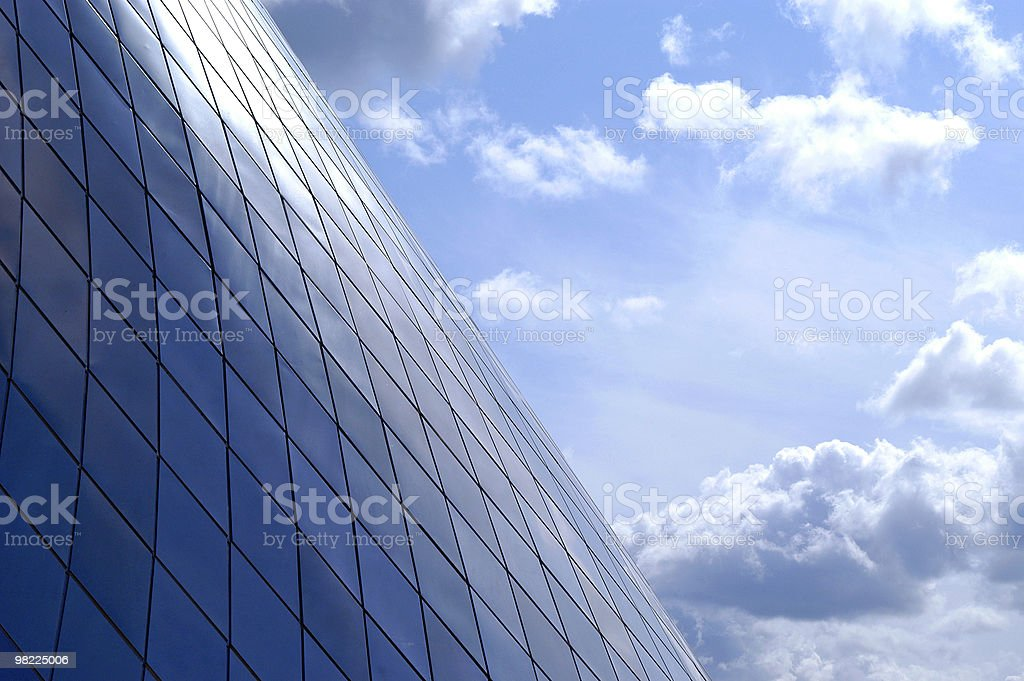Side of modern building and sky royalty-free stock photo