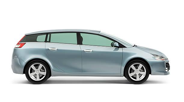 parte della moderna in argento auto compatta su sfondo bianco - auto foto e immagini stock