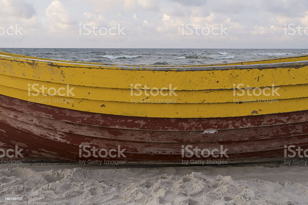 Side of the fishing boat. royalty-free stock photo
