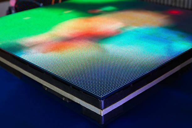 Seite der Einsatz von grünen bunten LED-Bildschirm – Foto