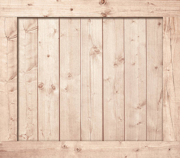 Side of wooden box, wall or frame stock photo