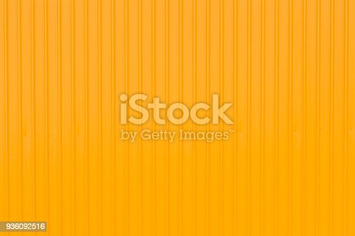 istock side of yellow container panel, yellow metal background 936092516