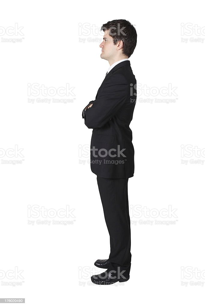 Side profile of businessman royalty-free stock photo