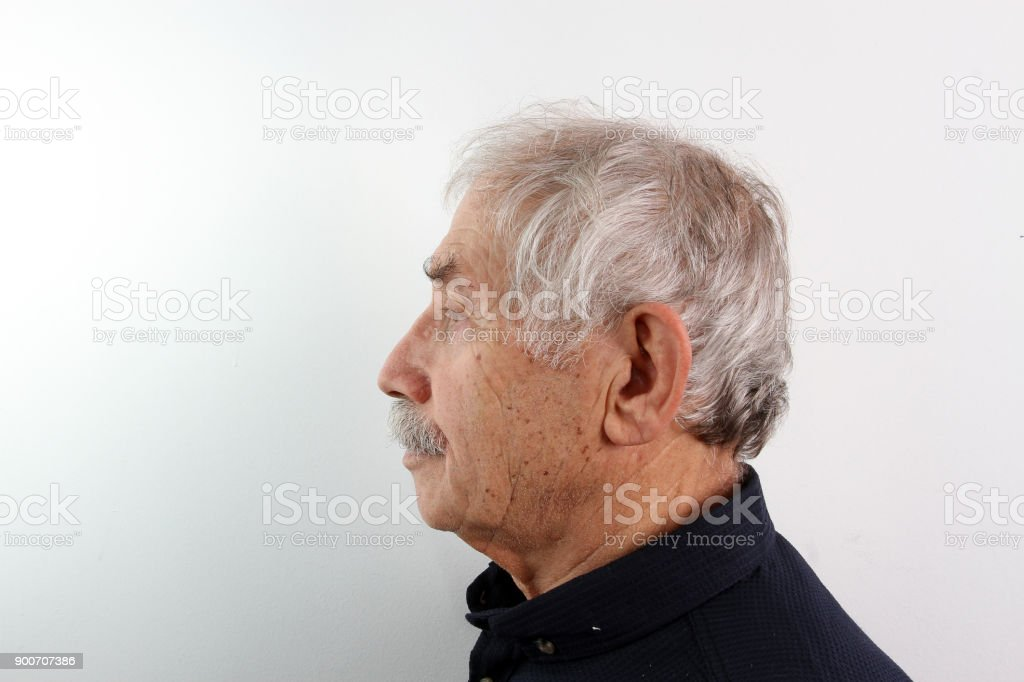 a side profile shot of an old man stock photo more pictures of 60