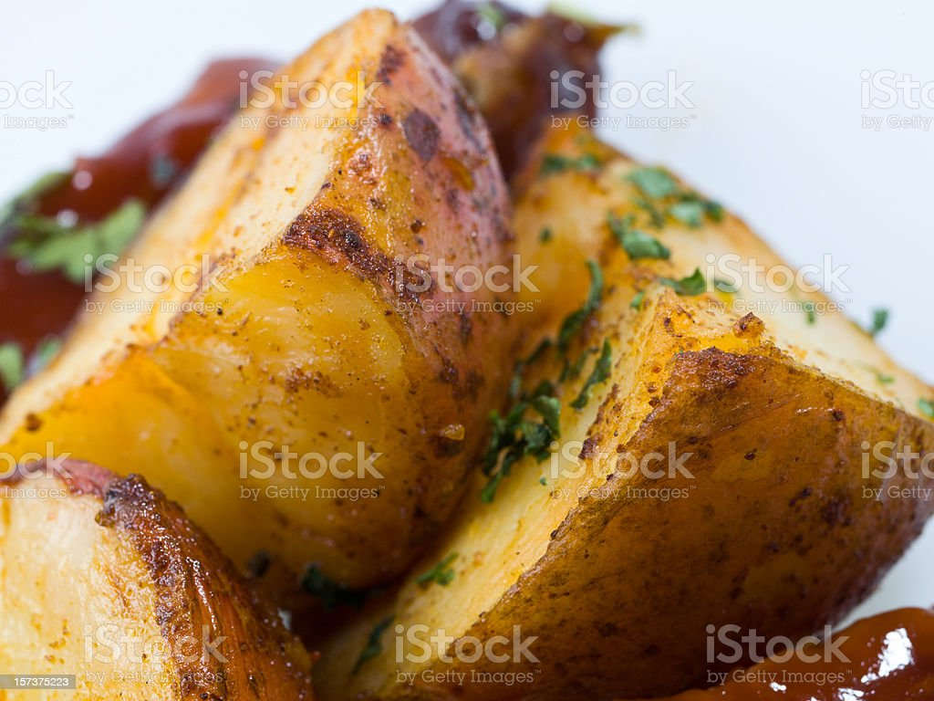 Side roasted potatoes royalty-free stock photo