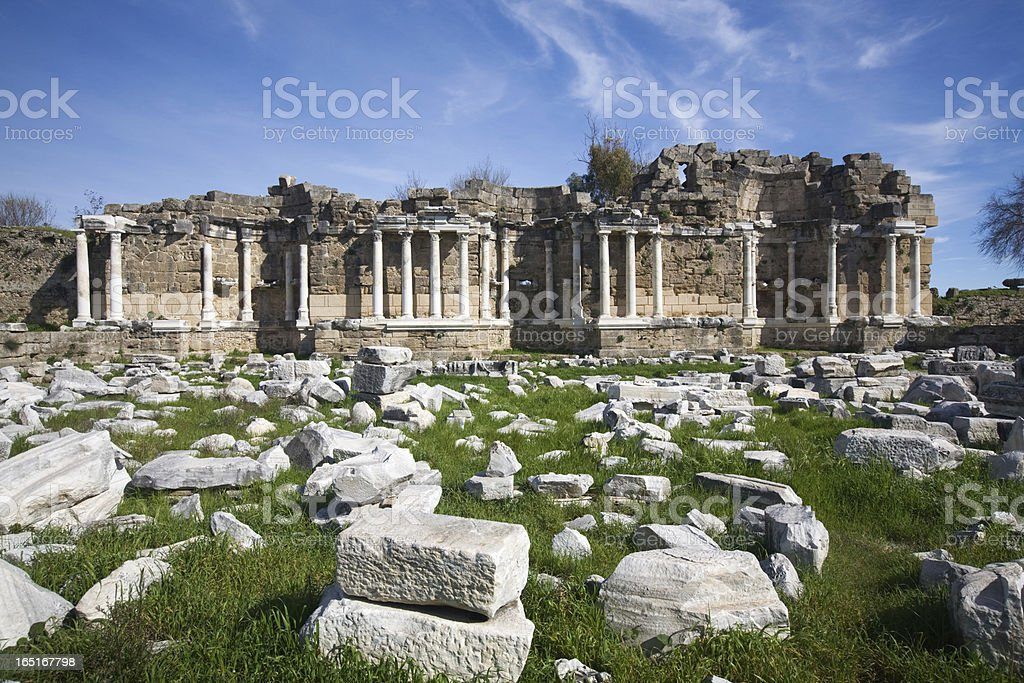 Side, ruins of library royalty-free stock photo